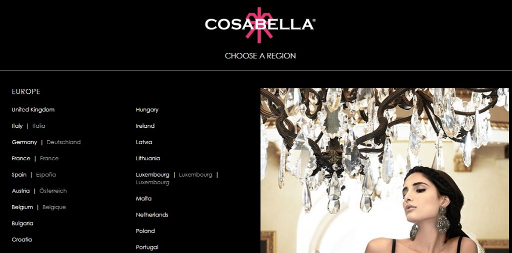 Cosabella Choose Region
