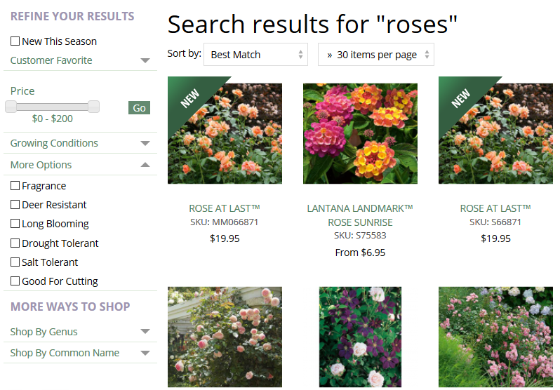 White Flower Farm Roses Search Results